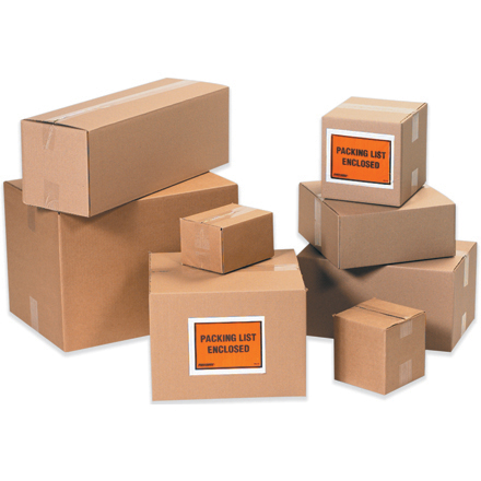 Kraft brown shipping boxes many sizes