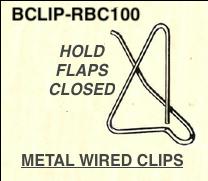 Box Flaps Closed Wire Clip