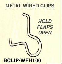 Box Flaps Open Wire Clip