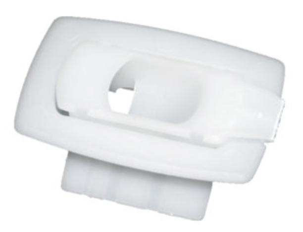 BCLIP-HP602W Finger pull snap in plastic box clip