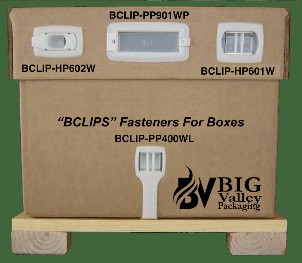 """""""BCLIPS"""" Fasteners For Corrugated Boxes"""
