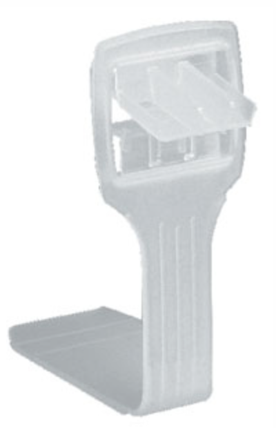 BCLIP-PP400WL pallet clip squeeze pull snap in plastic box clip