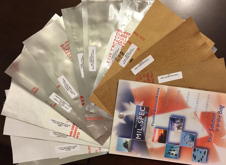 Moisture barrier film roll stock bags and sheeting