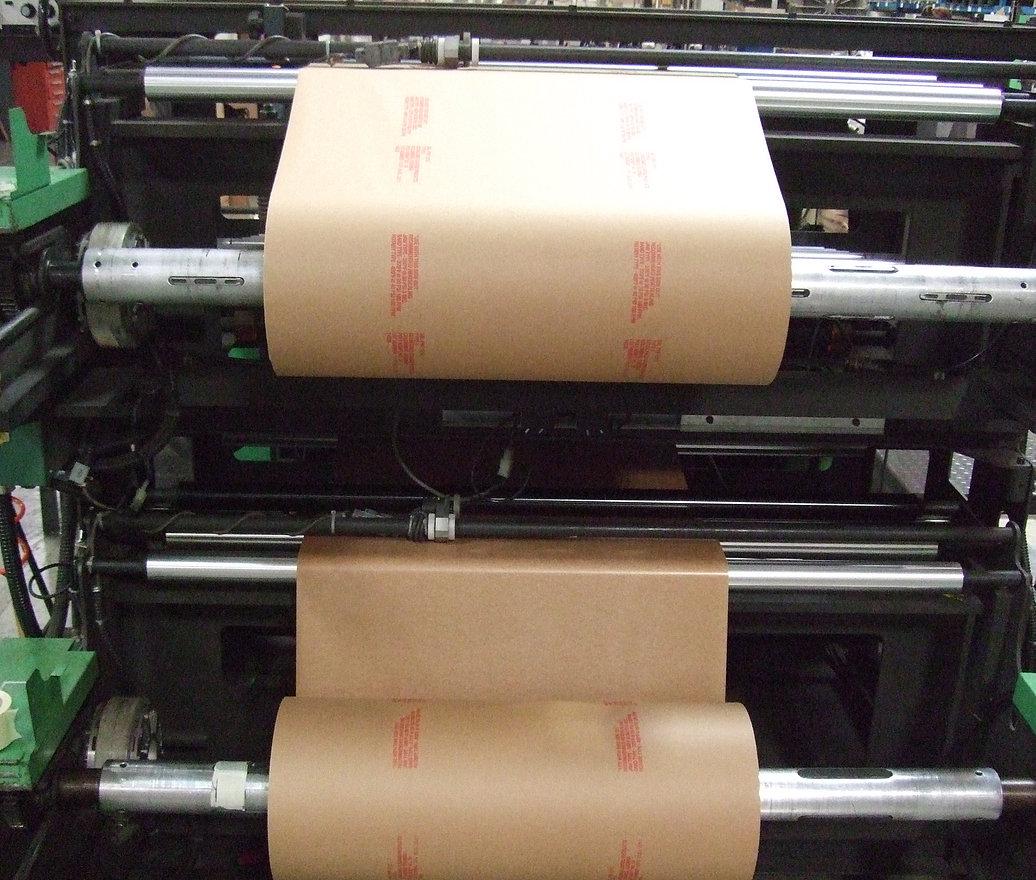 Milspec paper converting roll stock