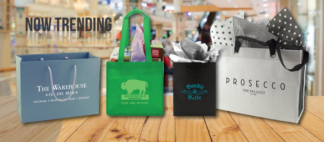 Retail gift shopping bags custom printed reusable tote bag with handles
