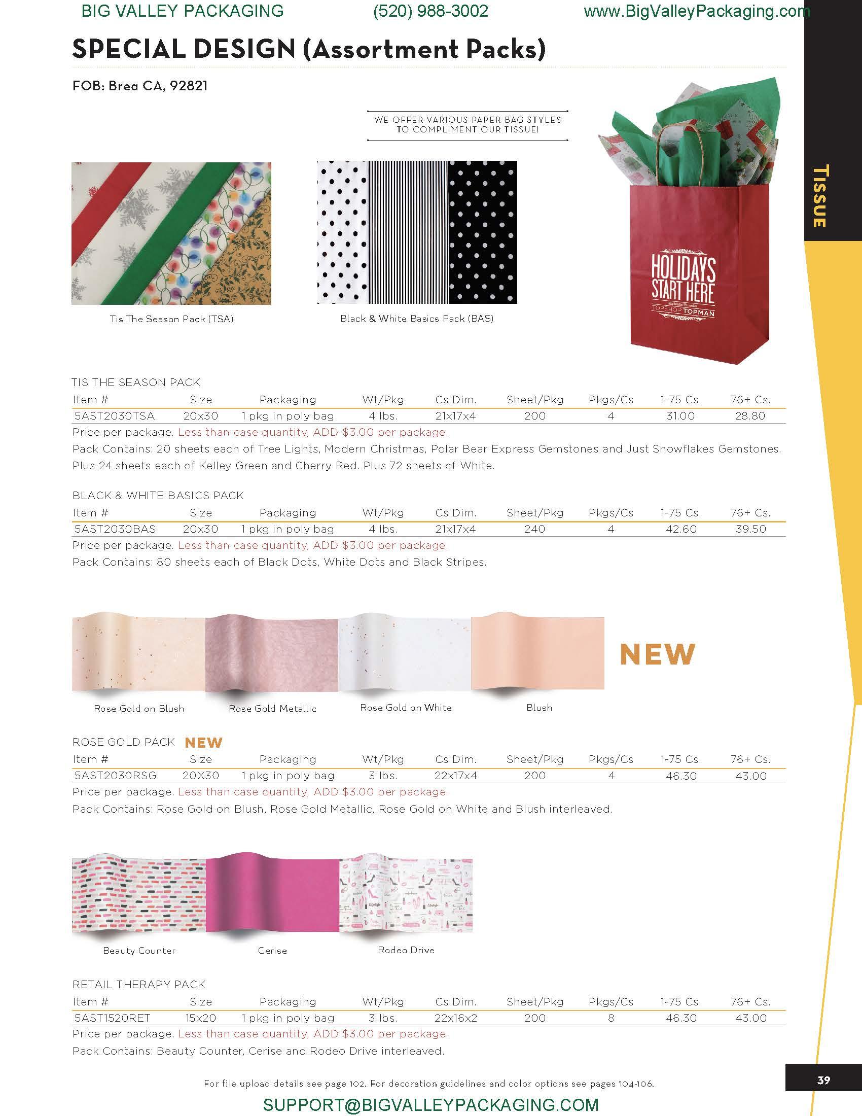 SPECIAL DESIGN TISSUE (Assortment Packs)