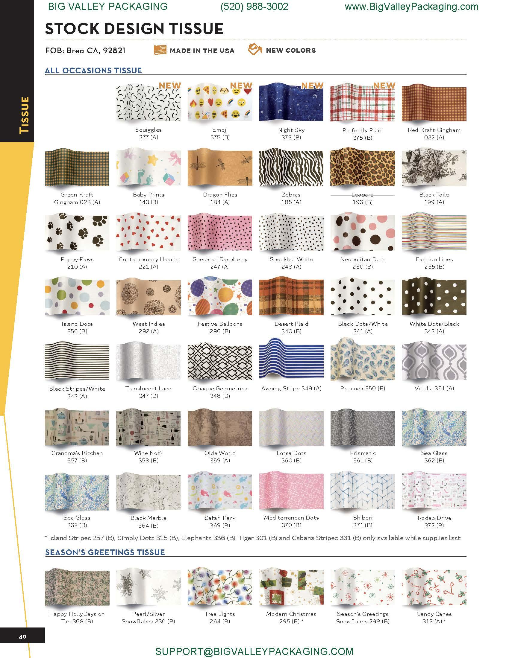 STOCK DESIGN TISSUE PAPER SHEETS