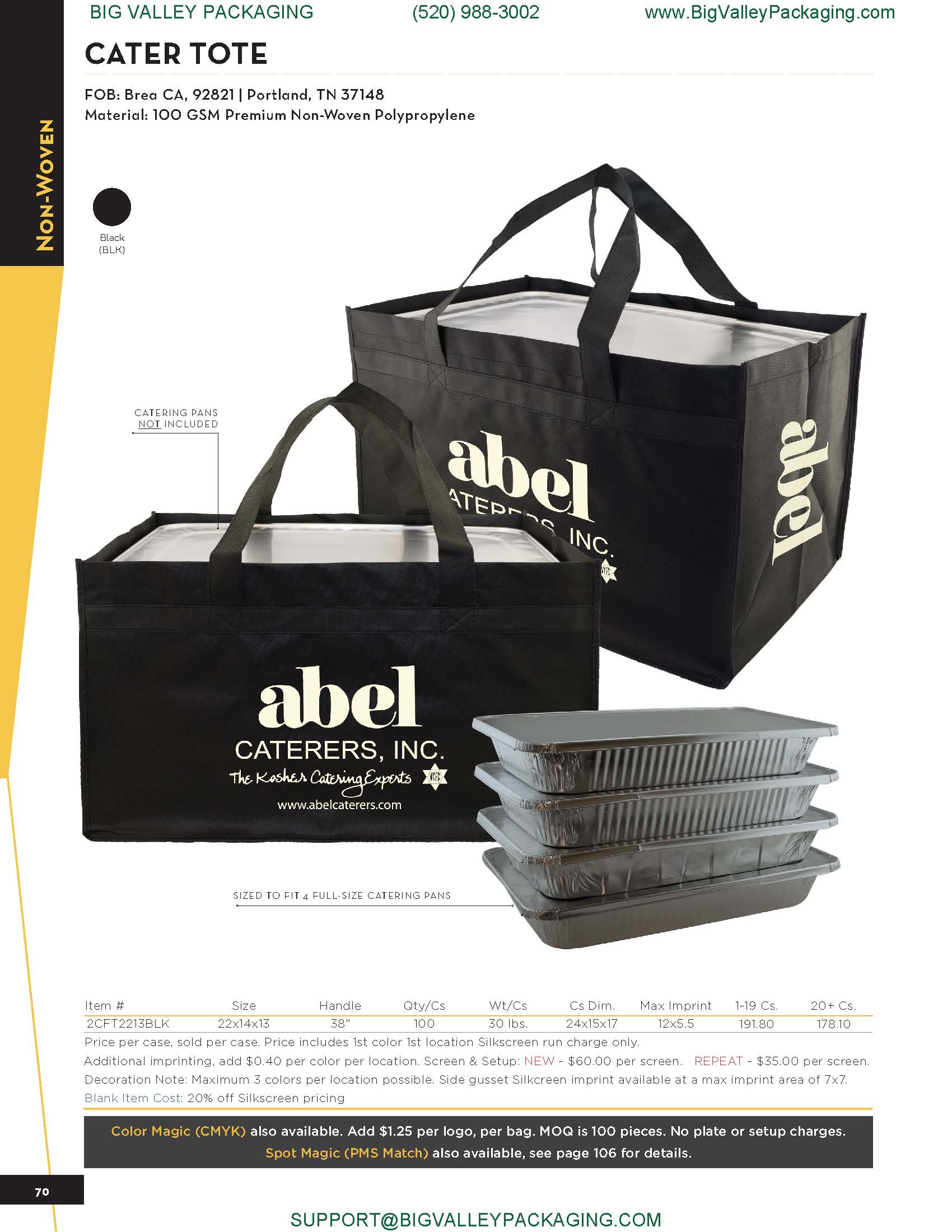PRINTED CATERING FOOD CARRY BAGS