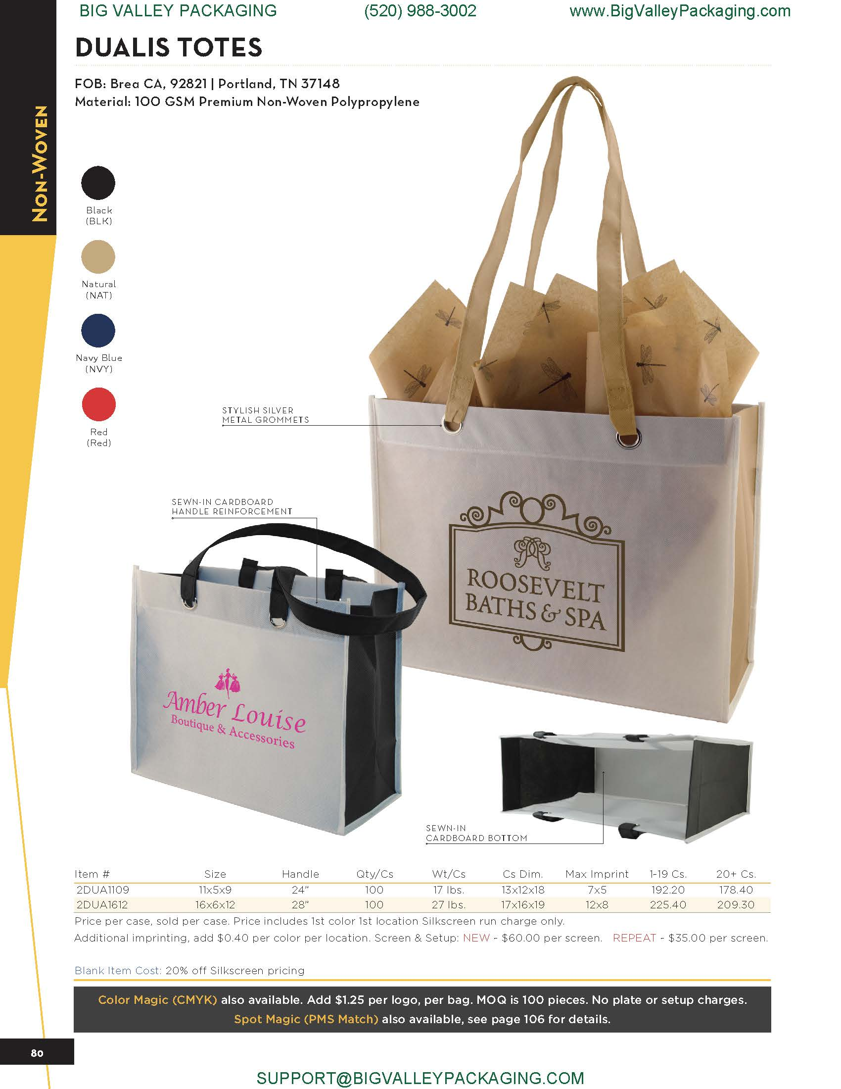 MATERIAL HANDLE CARRY DUALIS TOTES