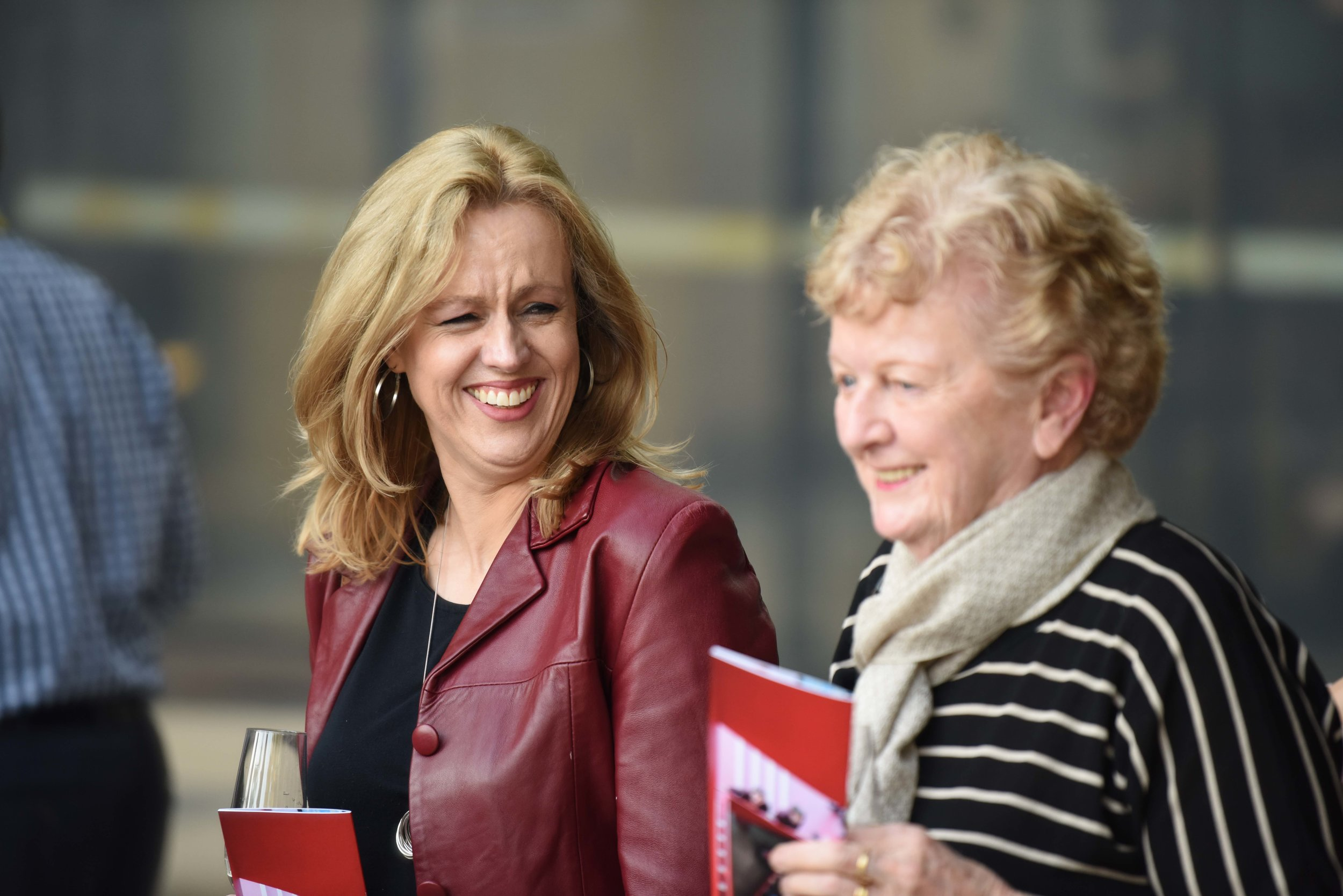 Maureen Hegarty (Left) and Joan McLachlan sharing a funny moment at Marcellin