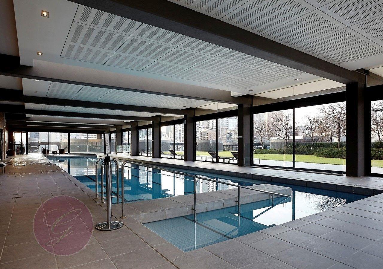 10th floor pool, spa, sauna & steam room area overlooking garden and bbq area