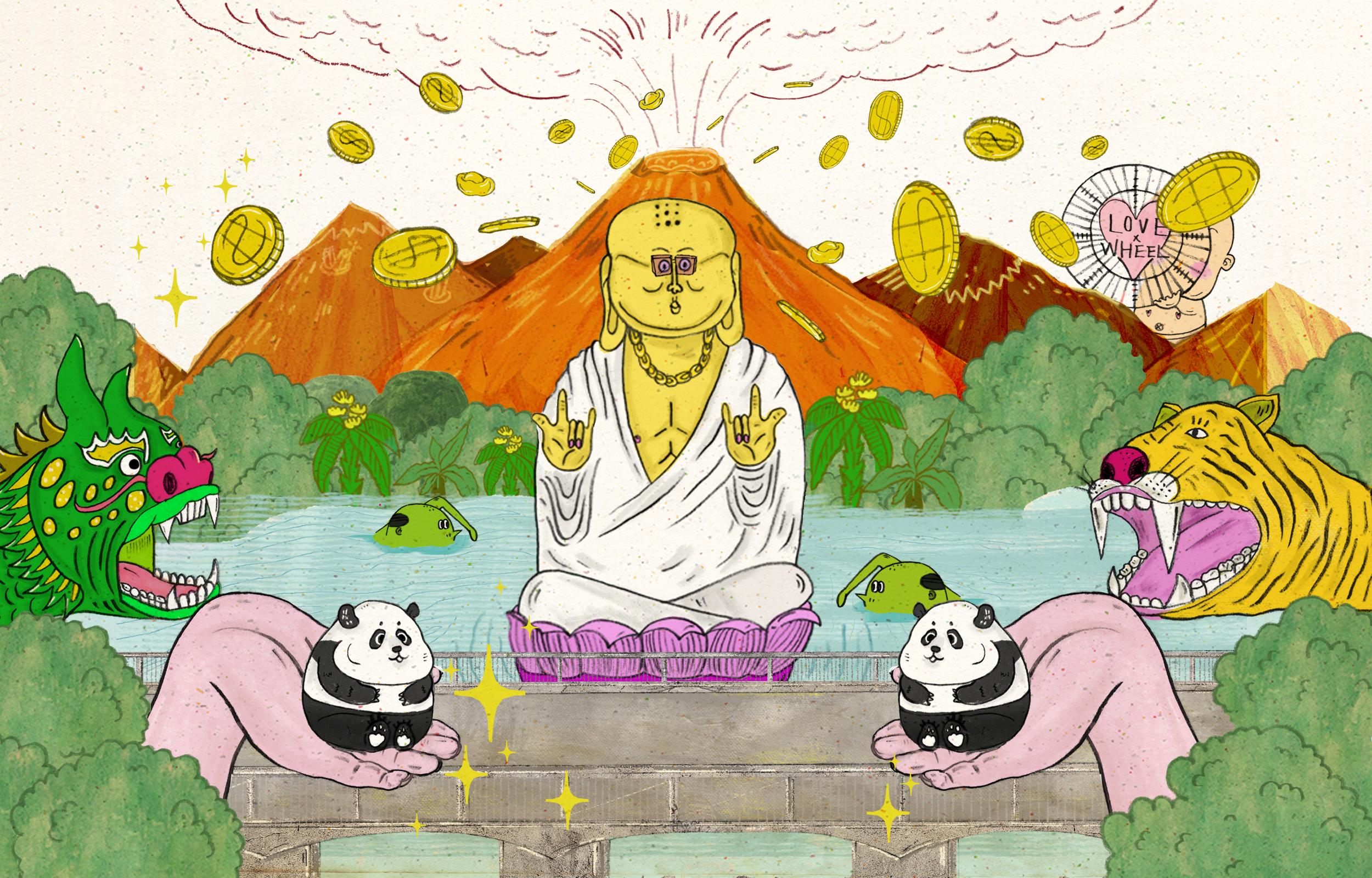 腦內的高雄現況,本期封面插畫由  Hazel.S  繪製。