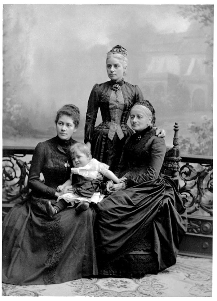 Wilhelmina, Johanna och Ebba von Hallwyl. Foto: Hallwylska museet