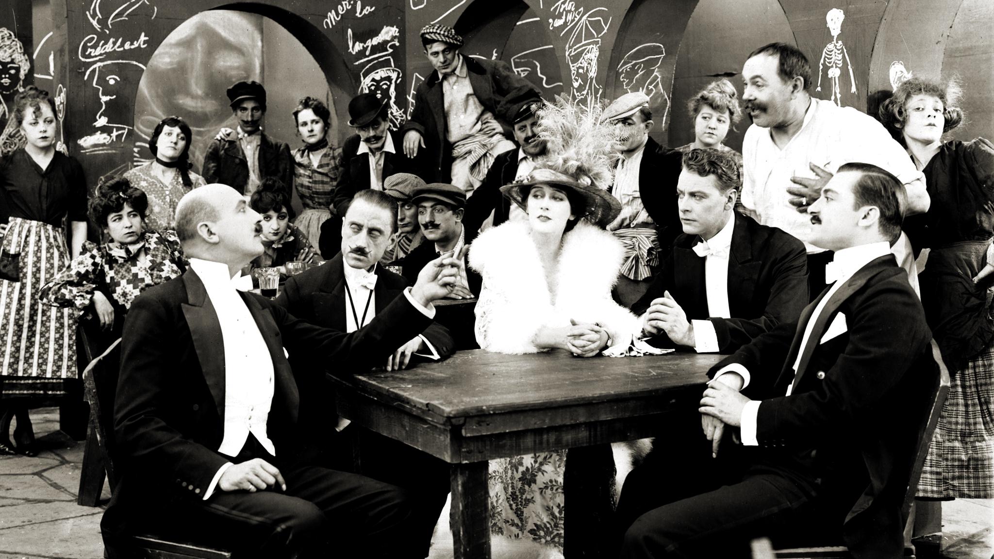 Stillbild från filmen  The Black Butterfly  (1916), producerad av Alice Guy-Blaché.