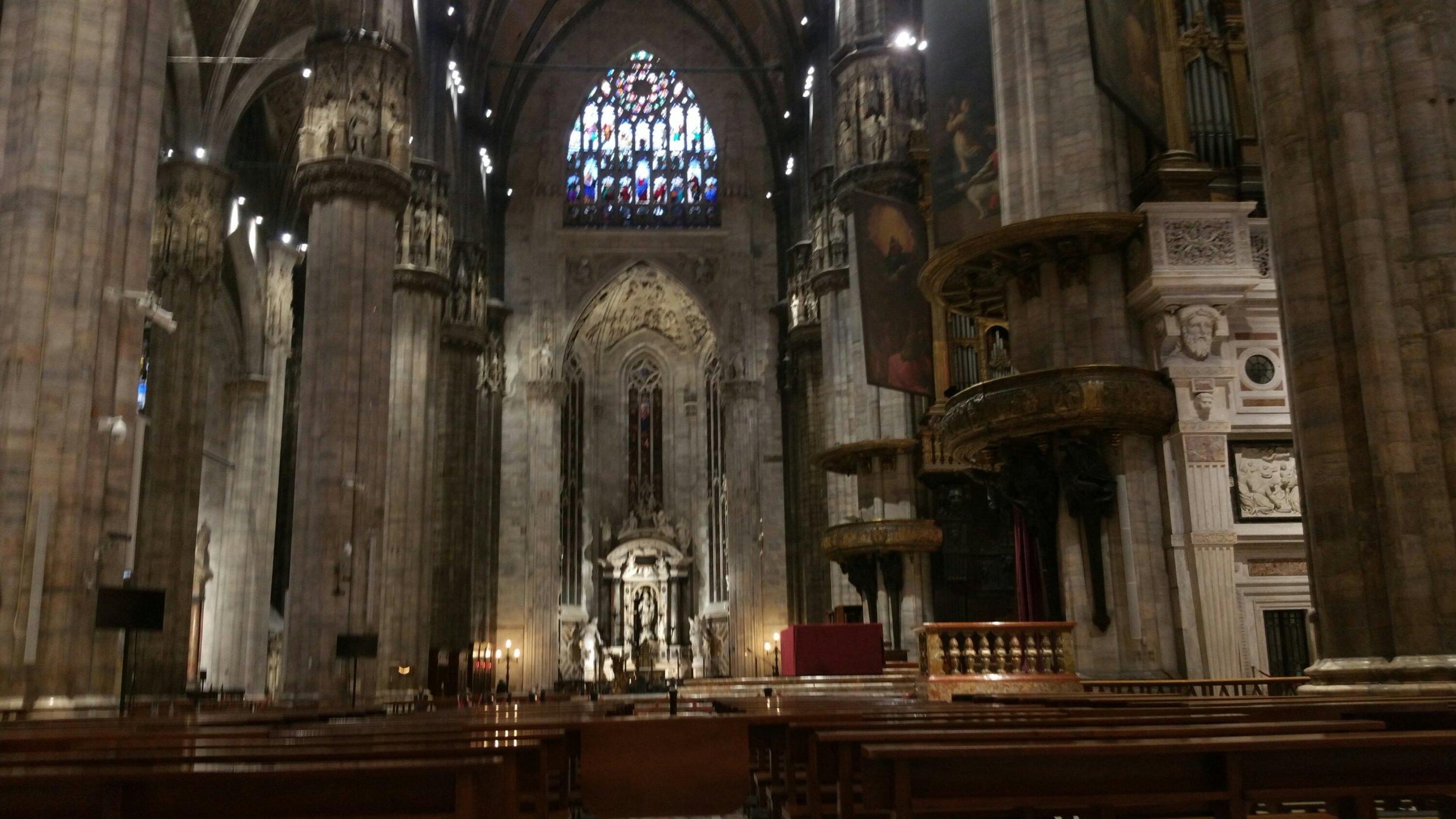 Inside the Duomo Milan