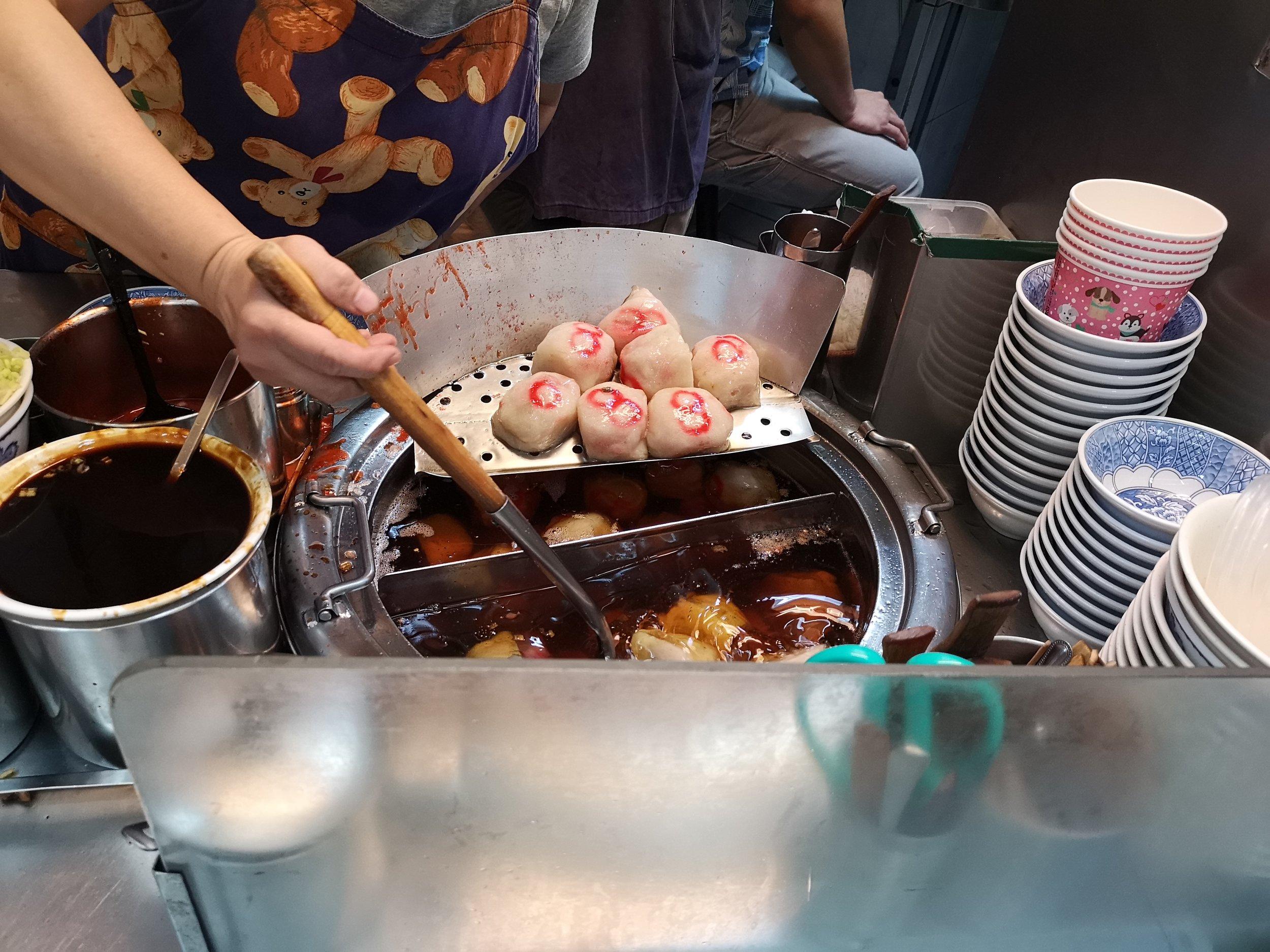 meatball dumplings in taiwan