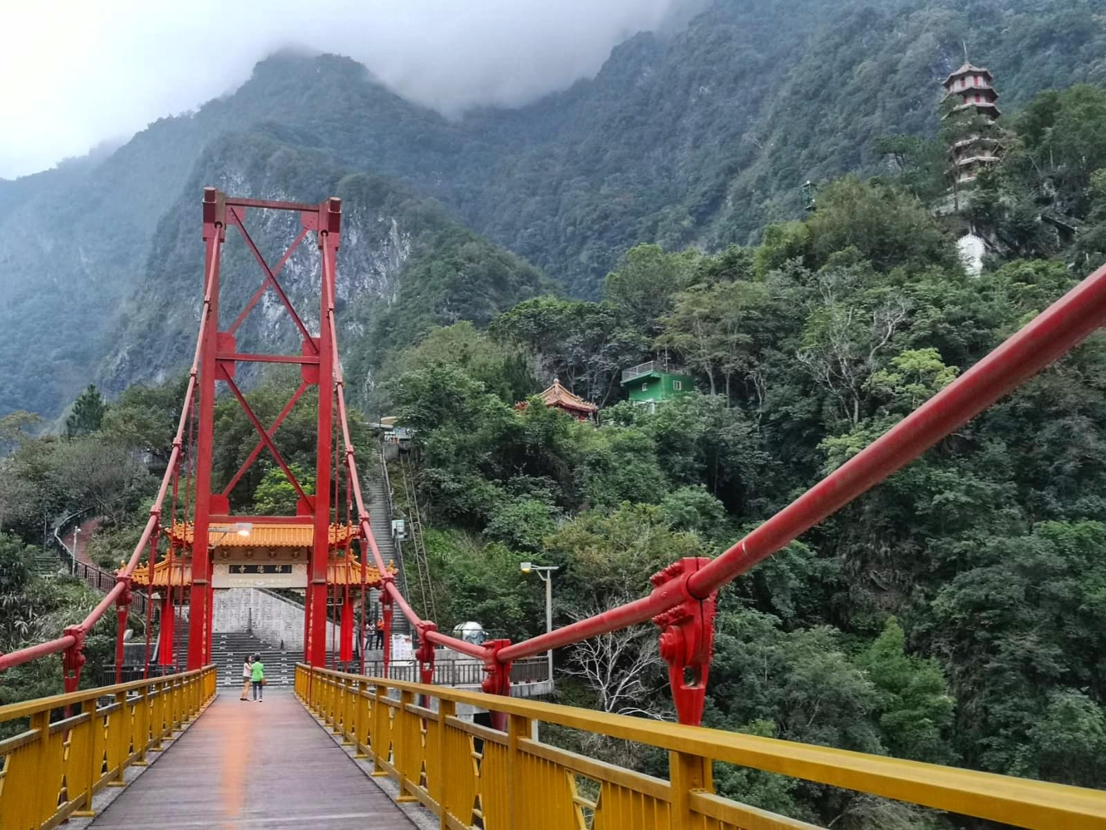 Temple in mountains Hua Lien Taiwan