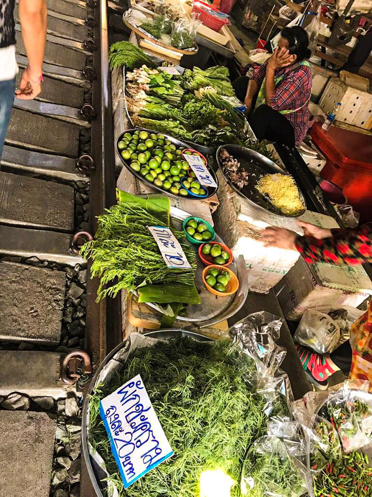 Maeklong Railway Market Food