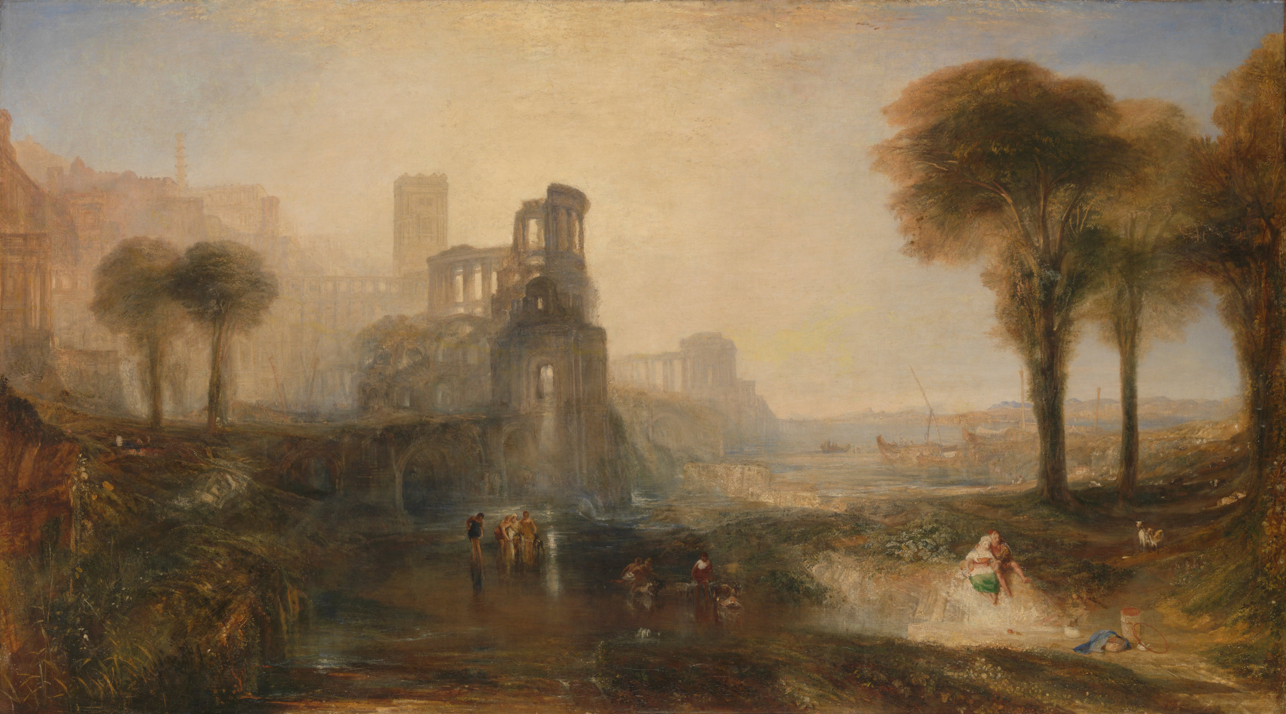 J. M. W. Turner, Caligula's Palace and Bridge, 1831 ©  Tate Britain , Photo © Tate CC-BY-NC-ND 3.0