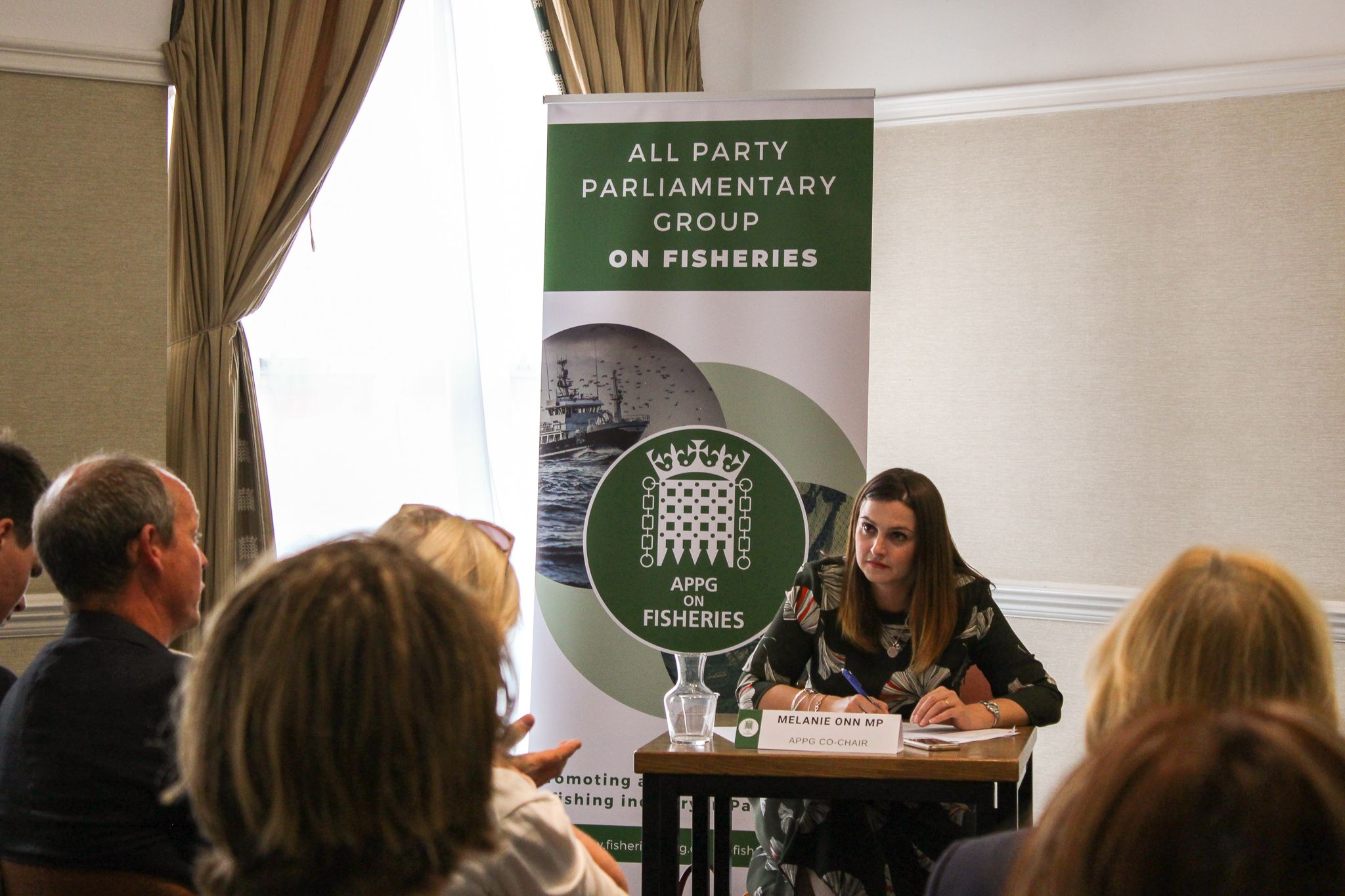 APPG on Fisheries Co-Chair, Melanie Onn MP in action.