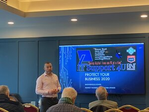 Ronan presenting at protect your business 2020