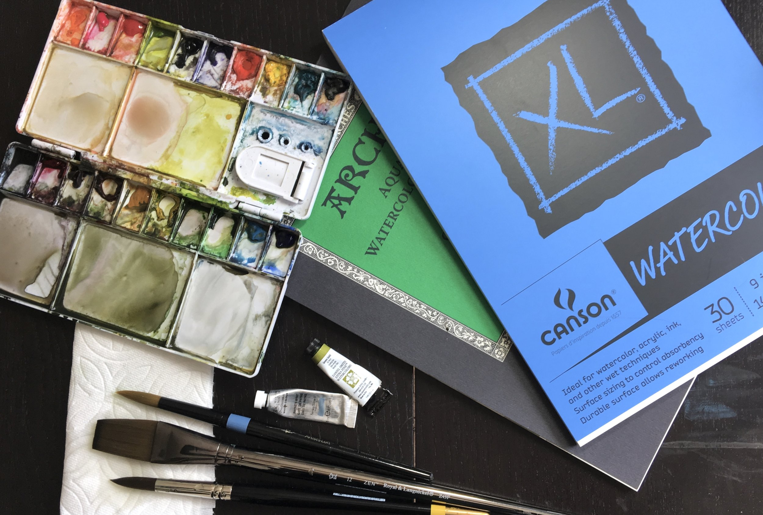 My Tried and True Watercolor Supplies List