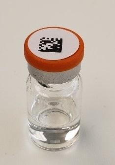 Data Matrix coded vial