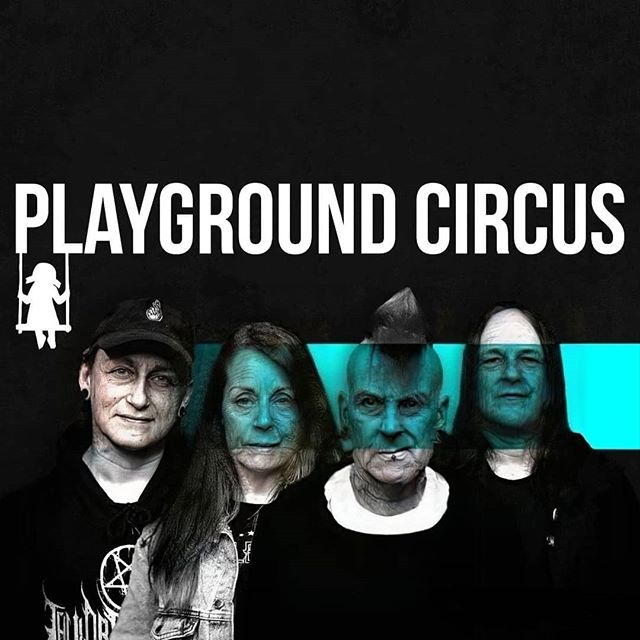 A bunch of old farts... Soon at a senior center near you! 🤘👴🤘 #playgroundcircus