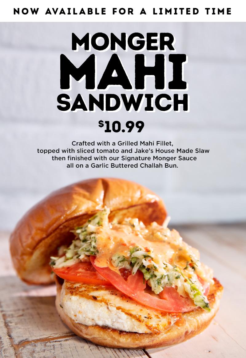 burger monger grilled mahi sandwich