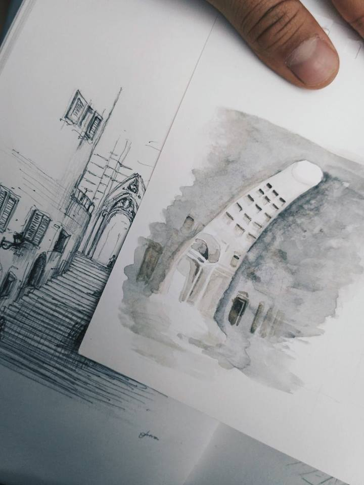 watercolors from rome