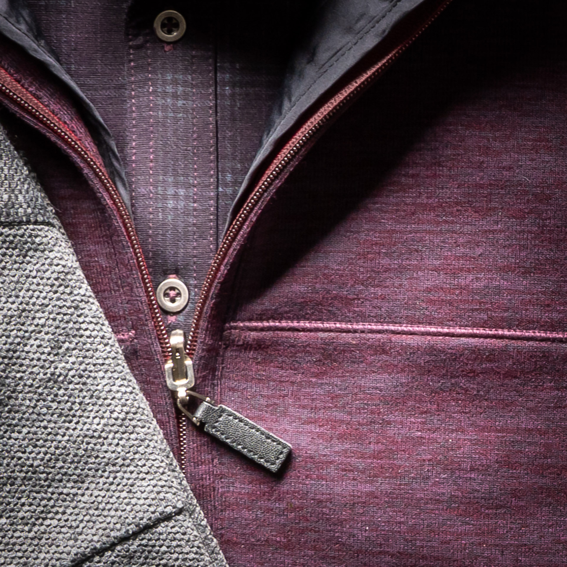 PERFORMANCE KNIT FULL-ZIP WITH NYLON LINING