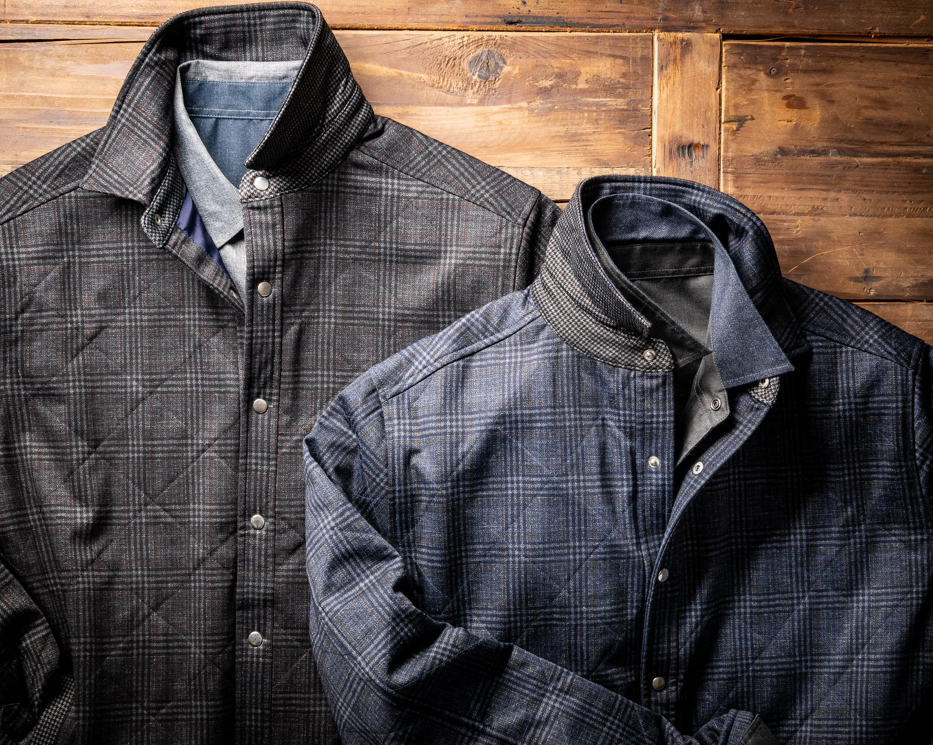 QUILTED KNIT JACKET WITH PARACHUTE LINING