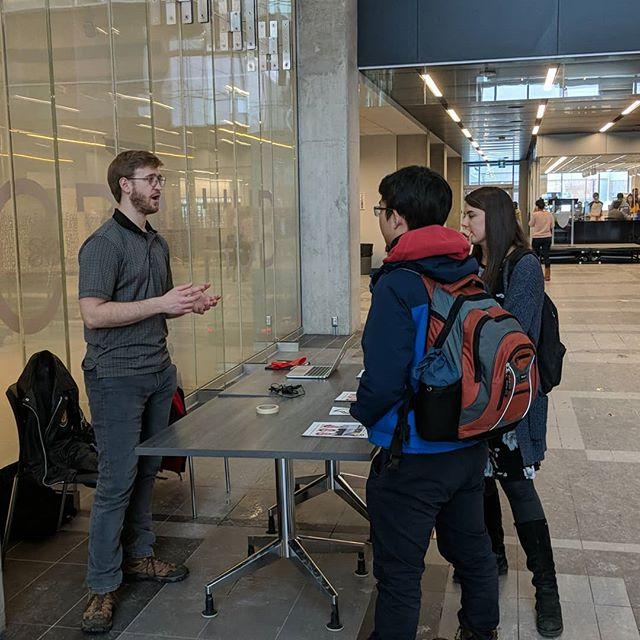 @senecavelling has been talking to these people for half an hour on E7 first floor. Please save them. The topics of conversation: setting framework for international tuition and how to increase support for mental health on campus  #ignite #TeamIgnite #Feds #FedsElections #UW #Engineering #ready4ignition