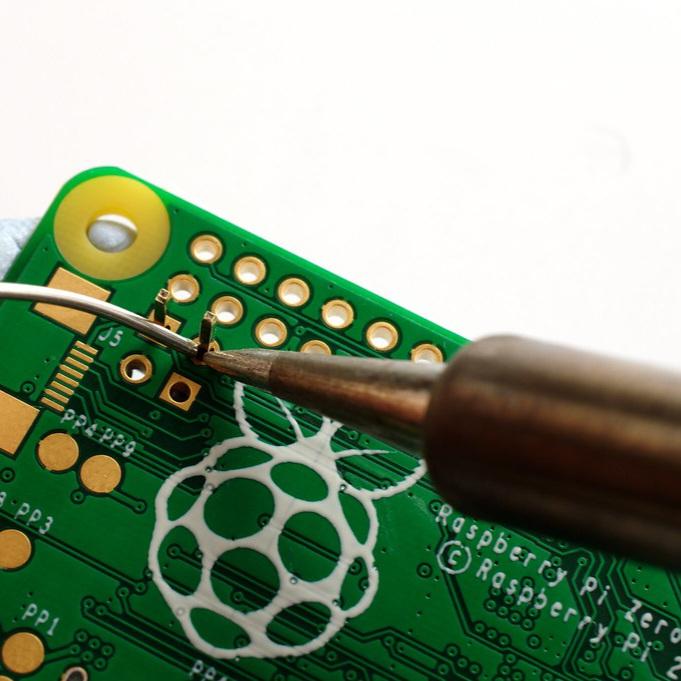Solder a raspberry pi board