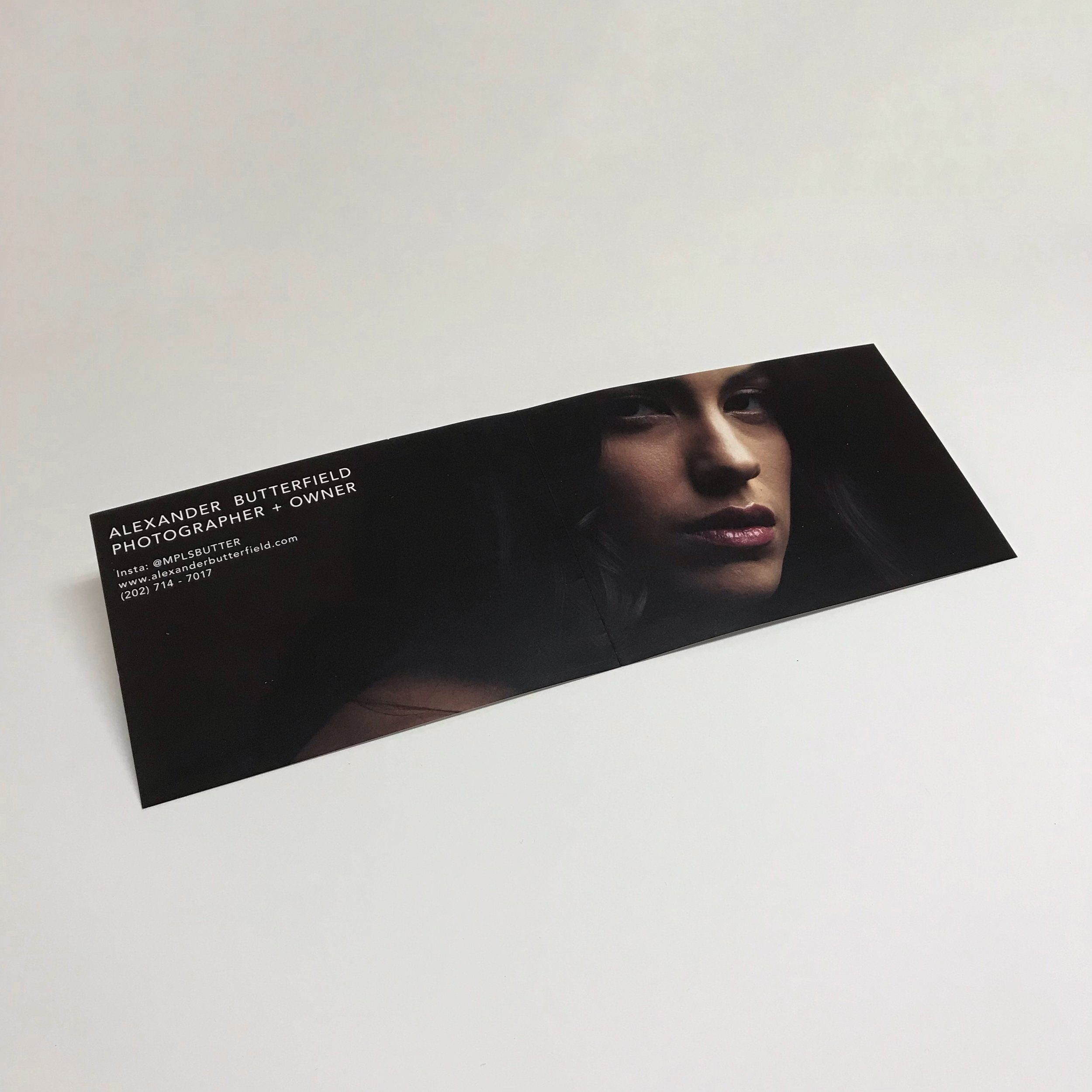 Personal folded business booklet printed by Anderberg Print