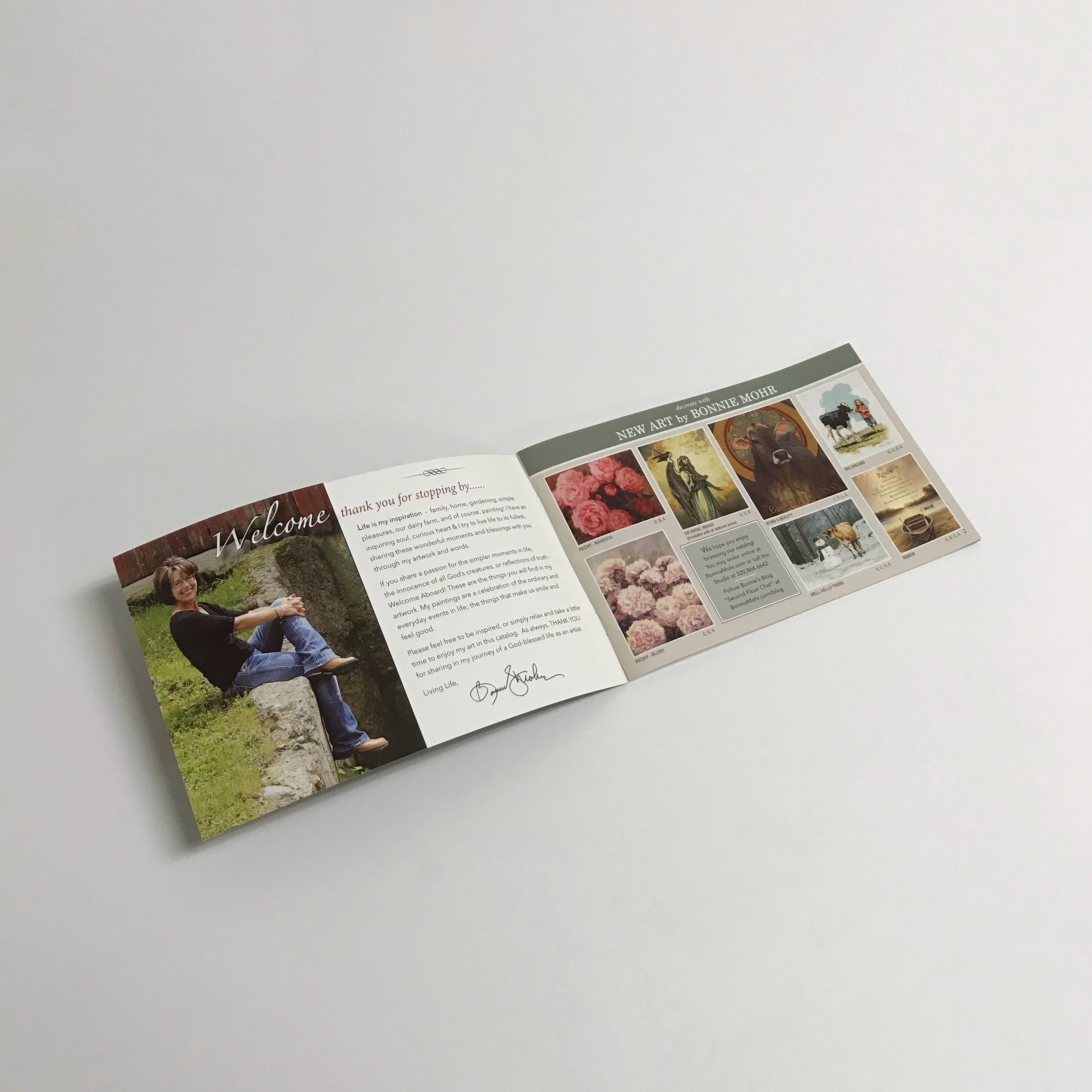 Personal business saddle stitched booklet printed by Anderberg Print