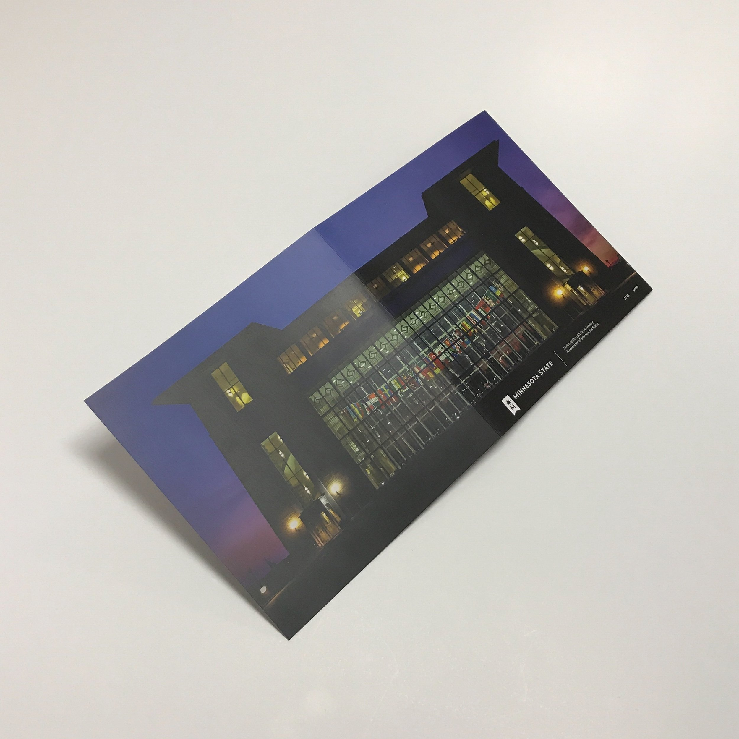 Higher education college booklet printed in Minneapolis by Anderberg Print