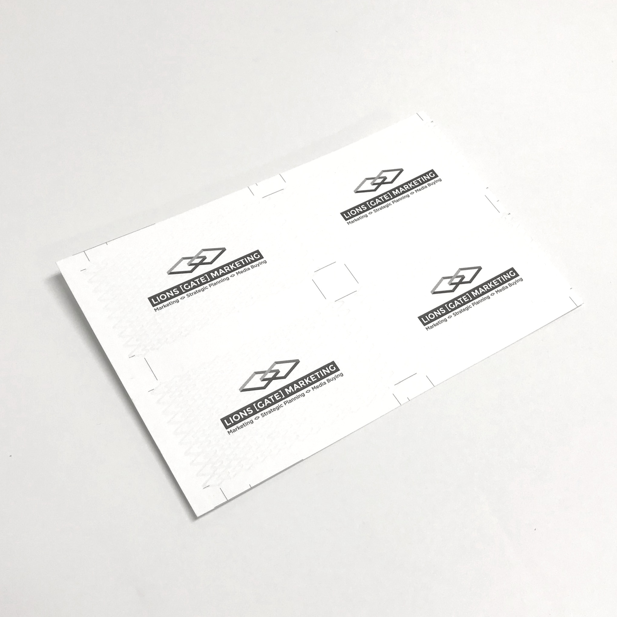 Specialty printed high quality business cards printed in Minnesota