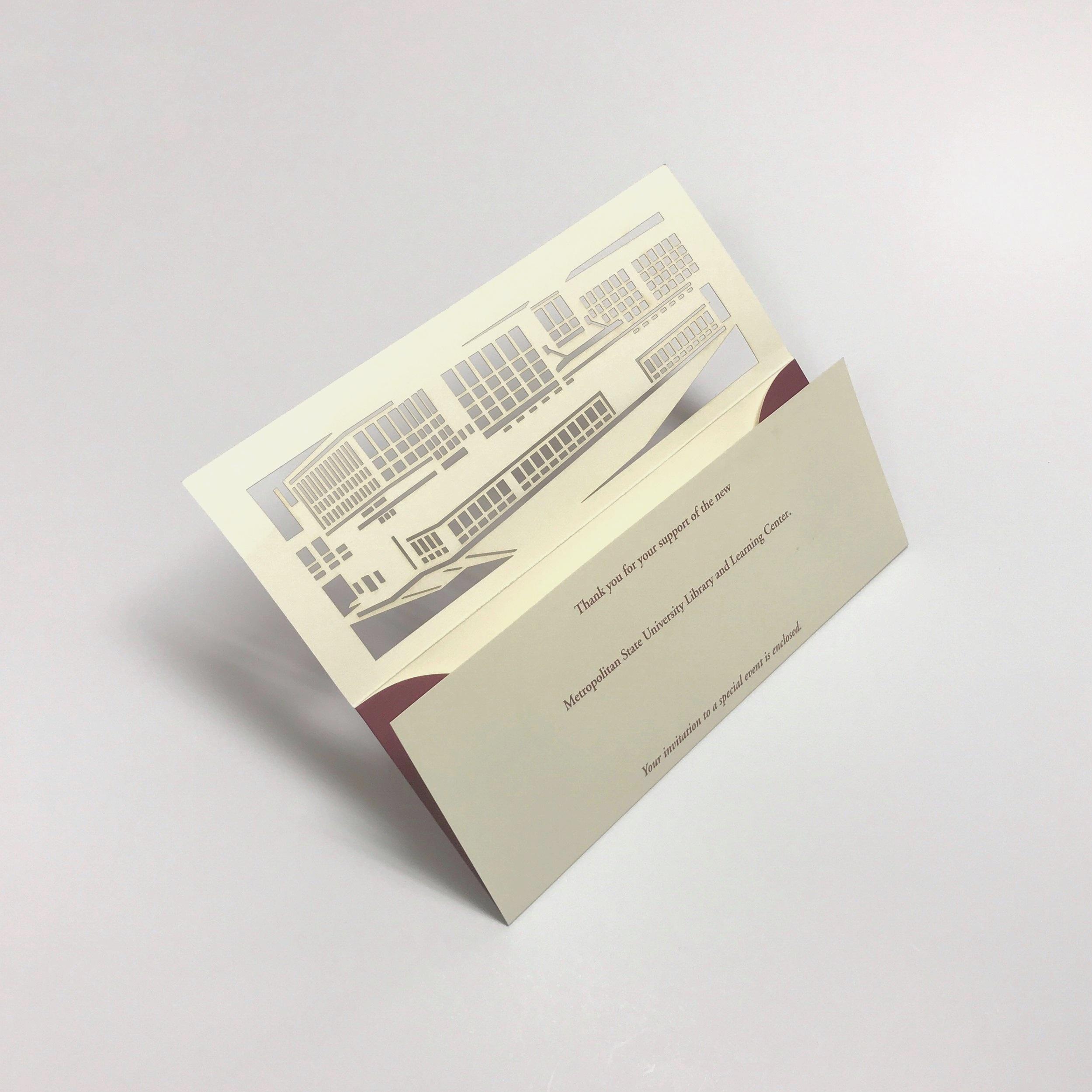 High quality die cut invitation printed in Minnesota