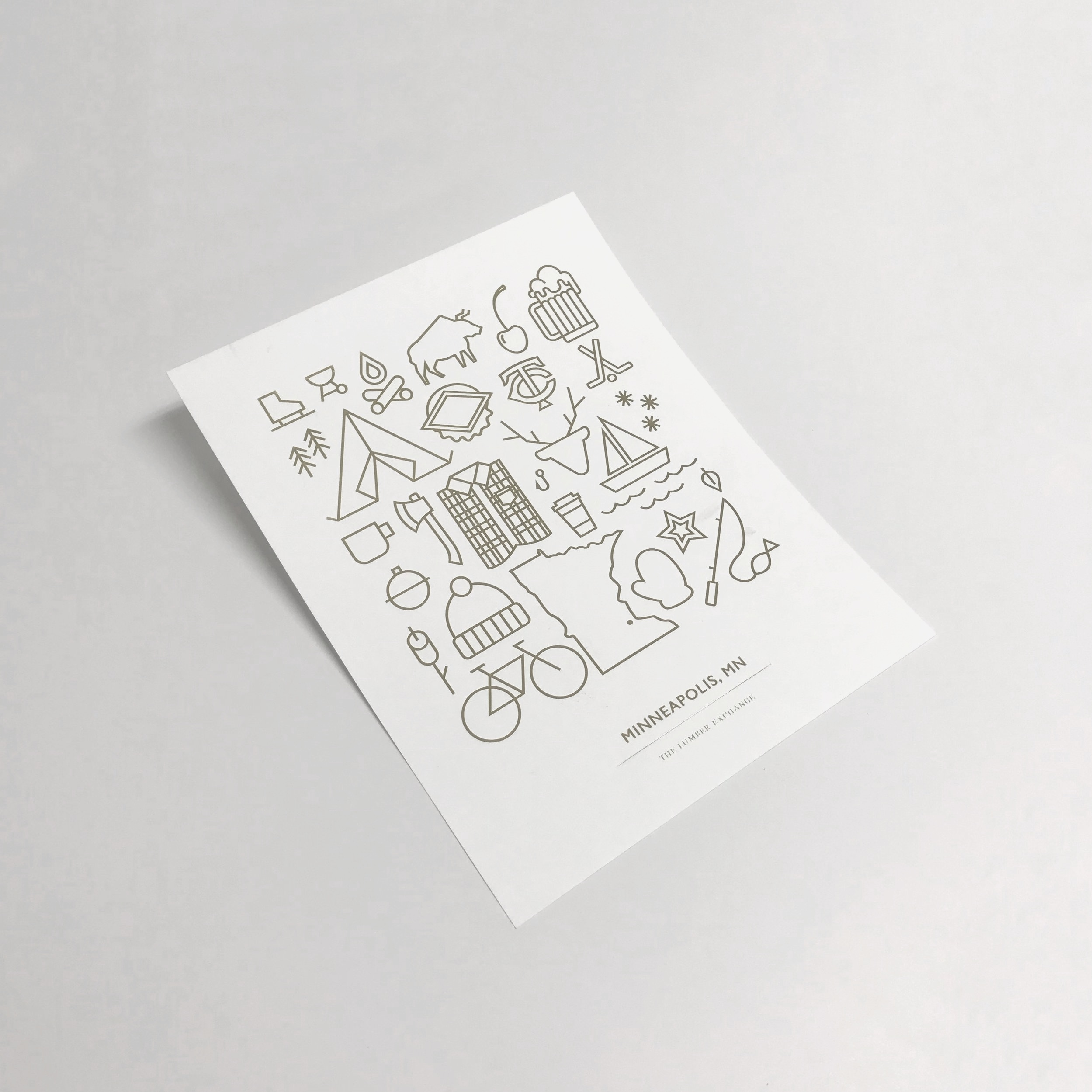 High quality letterpressed poster with foil printed in Minnesota