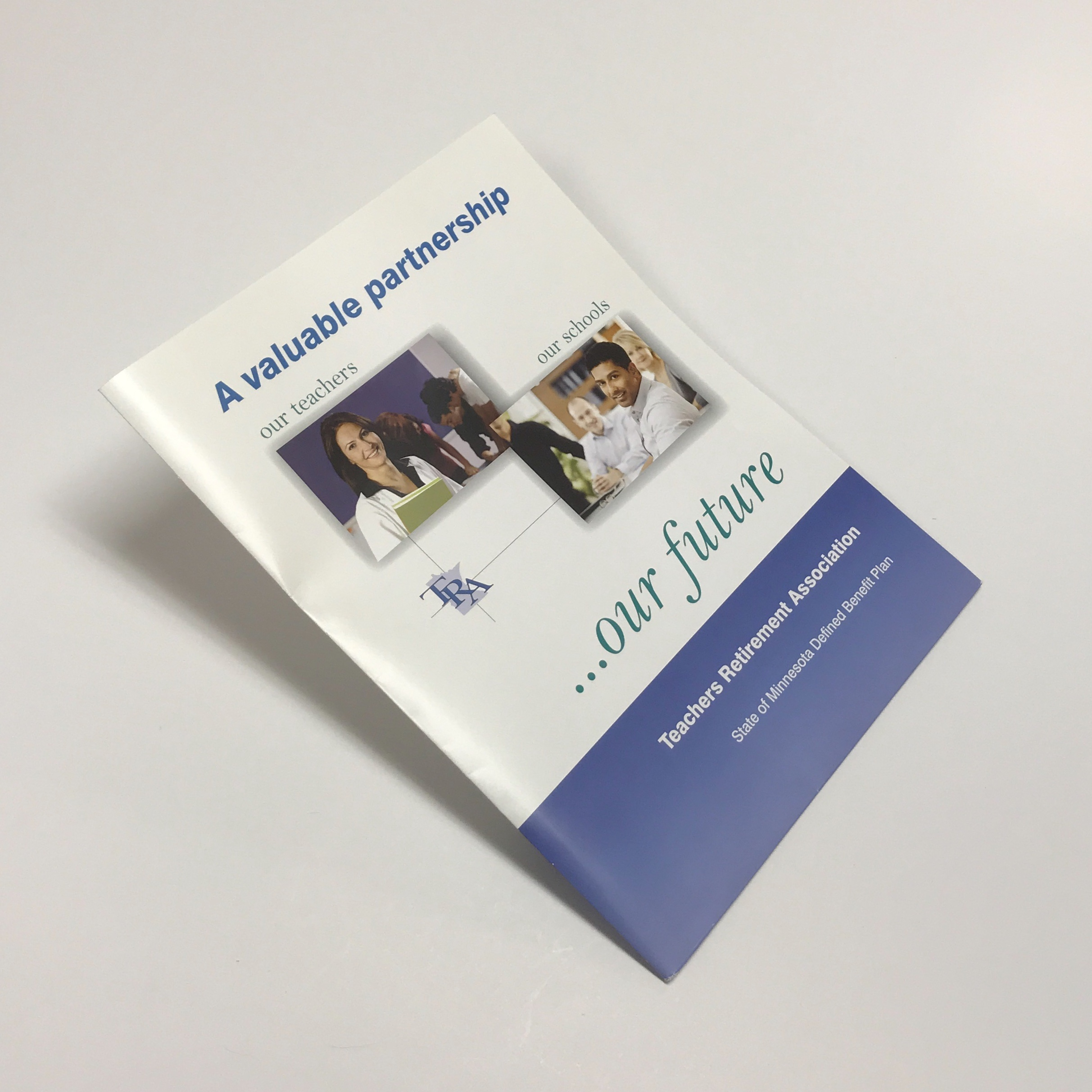 High quality booklet folder used for corporate use printed in Minnesota