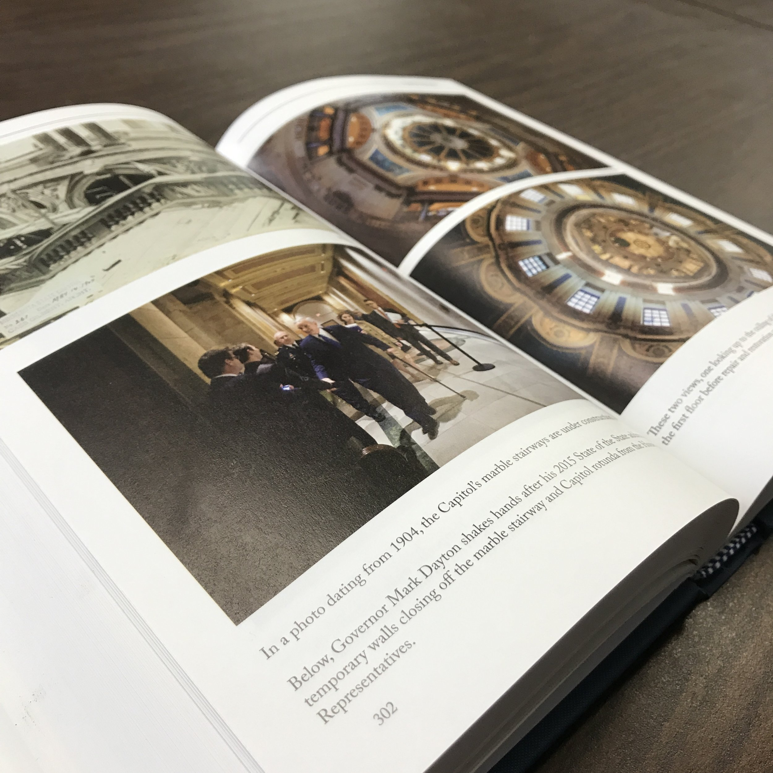 State government book printed in Minnesota