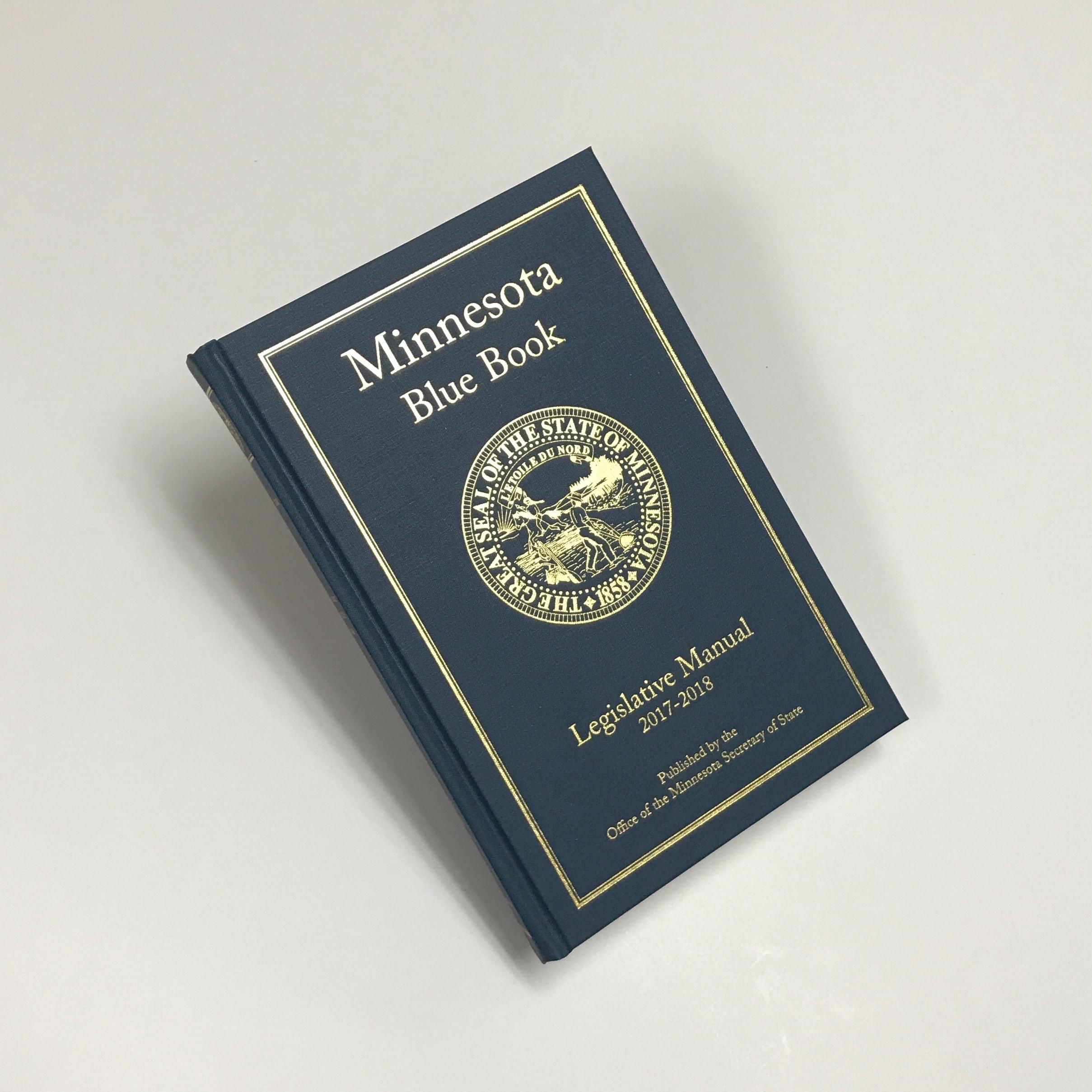 State government legislative book printed in Minnesota