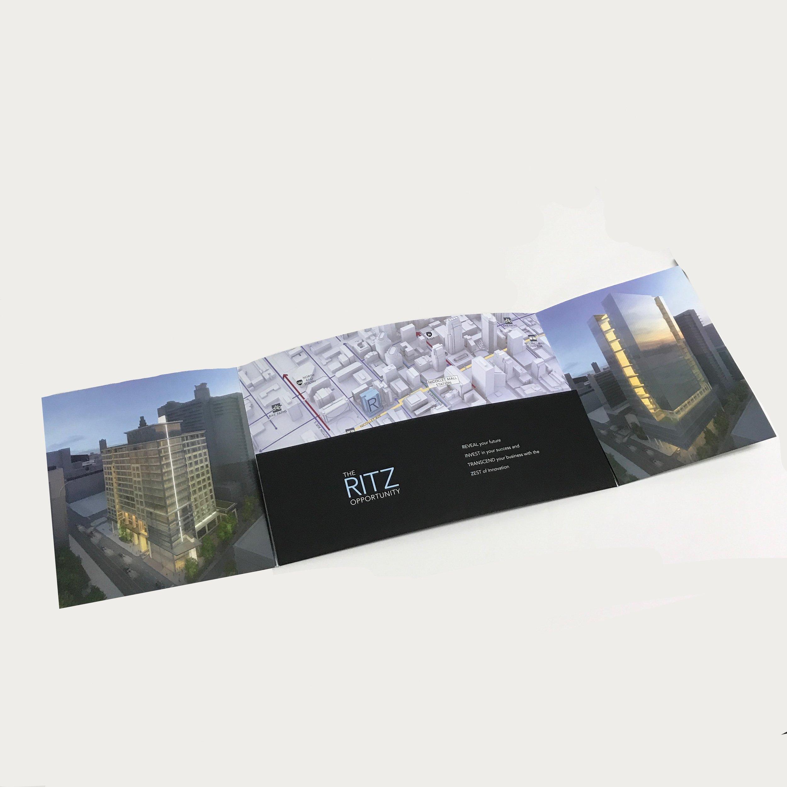 Corporate custom proposal folder printed in Minneapolis by Anderberg Print