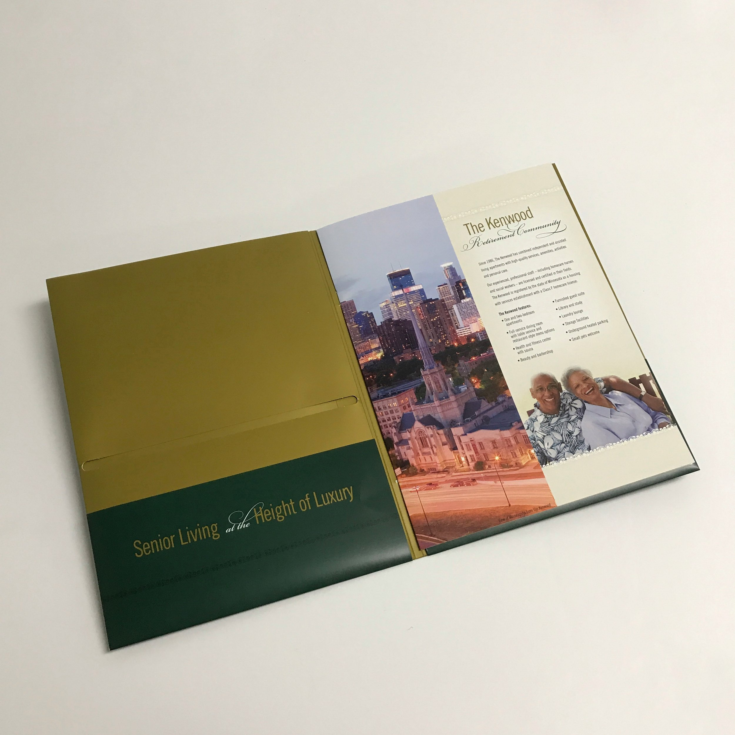 Unique booklet folders for corporate use printed in Minnesota