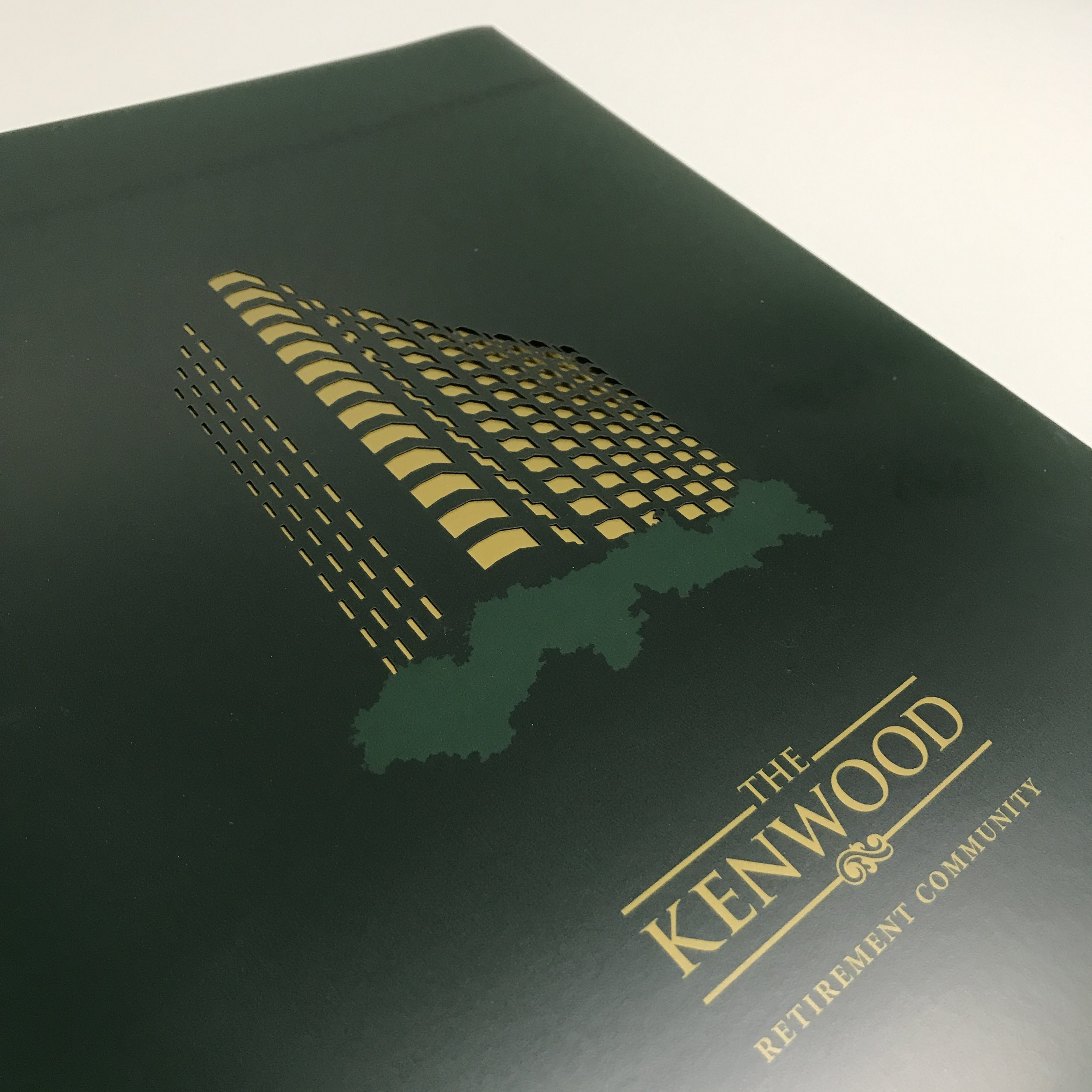 Unique high quality booklet folder with die cut printed in Minnesota