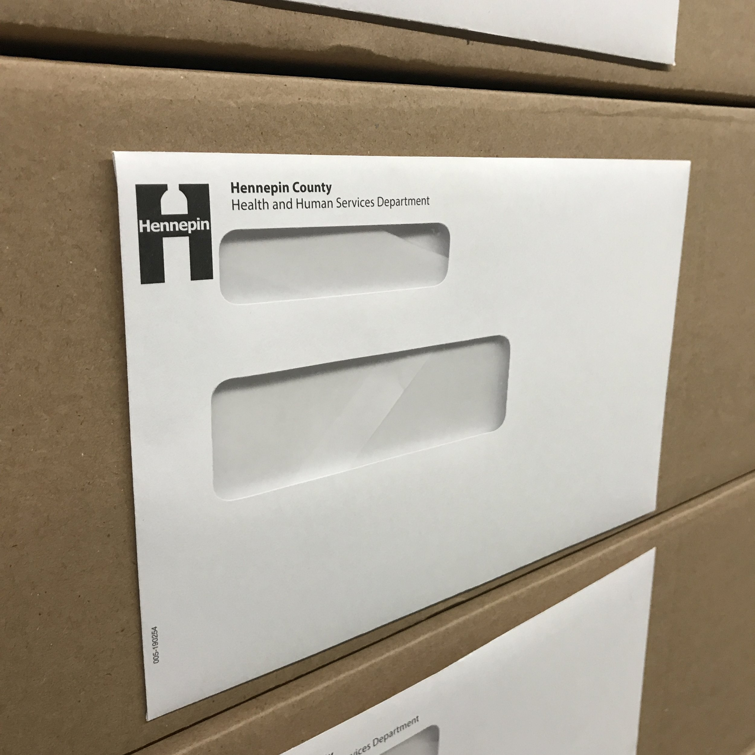 Local government envelopes printed and converted in Minnesota