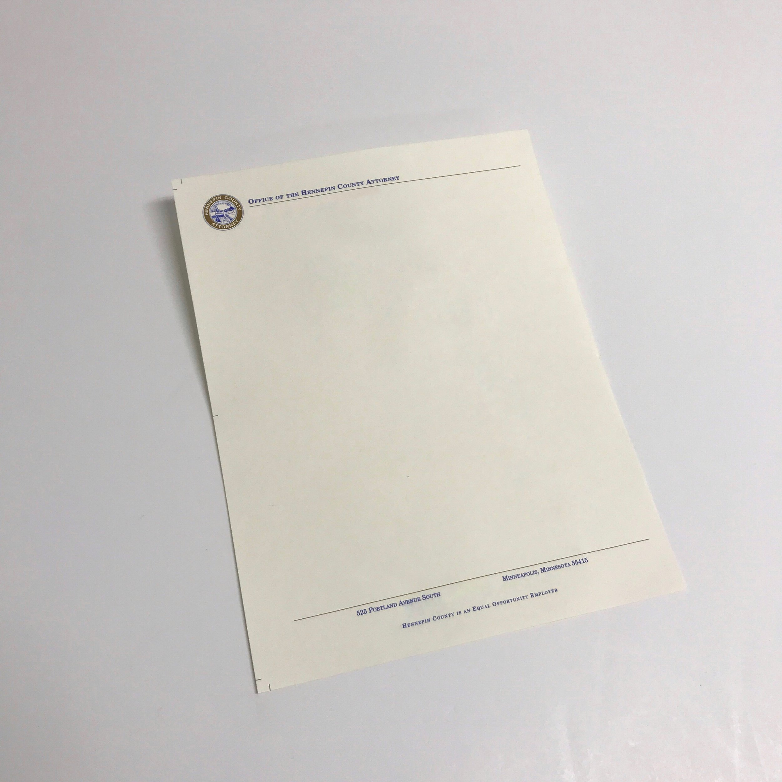 Professional corporate stationery printed in Minnesota