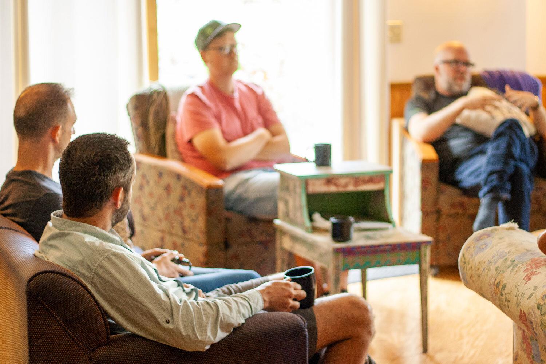 From left: Paul Kogan (   LessAccounting   ), Craig Hewitt (   Castos   ), Peter Suhm (   Branch   ) and Einar Vollset (TinySeed).
