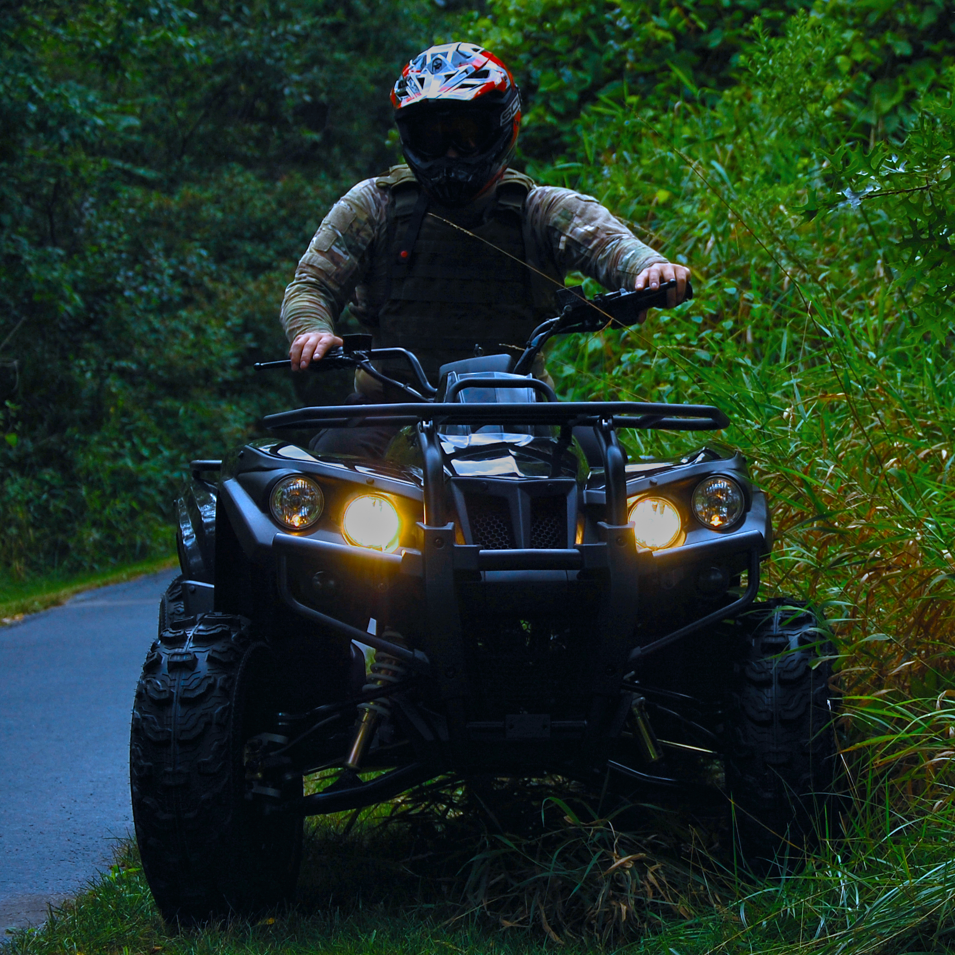 DRR USA Stealth Electric ATV Military Vest at Night .jpg